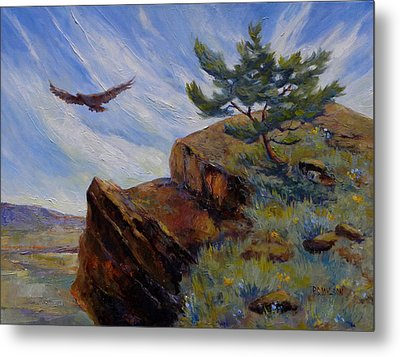 Red Tail Hawk Metal Print by Peggy Wilson
