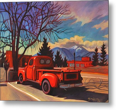 Red Truck Metal Print by Art James West