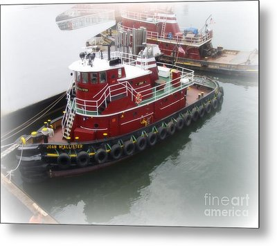 Metal Print featuring the photograph Red Tugboat by Kristine Nora
