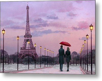 Red Umbrella Metal Print by Chris Consani