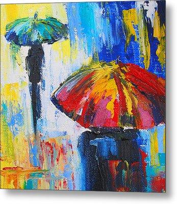 Red Umbrella Metal Print by Susi Franco