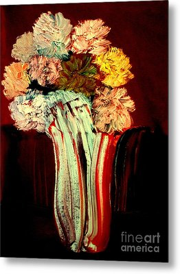 Red Vase 7 Metal Print by Bill OConnor
