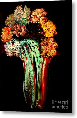Red Vase Revisited Metal Print