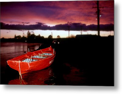 Red Vessel Metal Print by Sandro Rossi