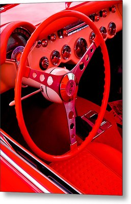 Red Vette Metal Print by Phil 'motography' Clark