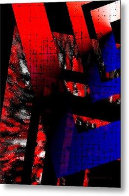 Red Vs Blue Metal Print by Mario Perez
