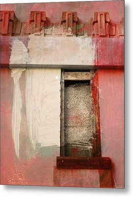 Metal Print featuring the painting Red Wall by John Fish