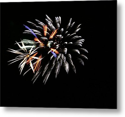 Red White And Blue Metal Print by Alexandra  Rampolla
