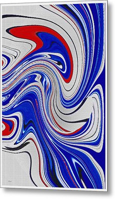 Red White And Blue Metal Print by Donna Proctor