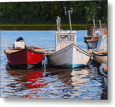 Red White And Blue Metal Print by Rick McKinney