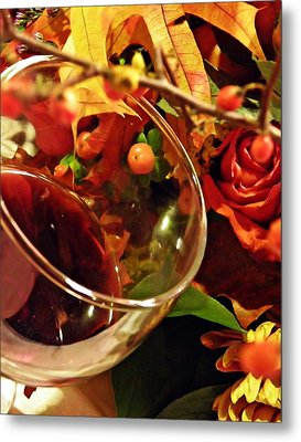 Red Wine 2 Metal Print by Sarah Loft