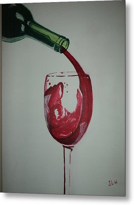 Metal Print featuring the painting Red Wine by Justin Lee Williams