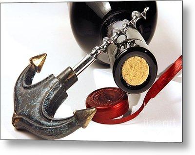Red Wine Tasting Metal Print by Stefano Senise