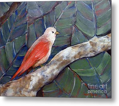 Red Winged Metal Print by Susan Fisher