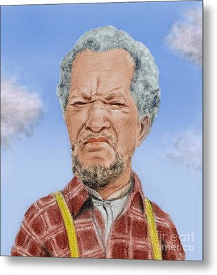 Redd Foxx As Fred Sanford Metal Print by Jim Fitzpatrick