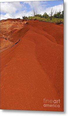 Reddish Sand At Waimea Canyon Metal Print