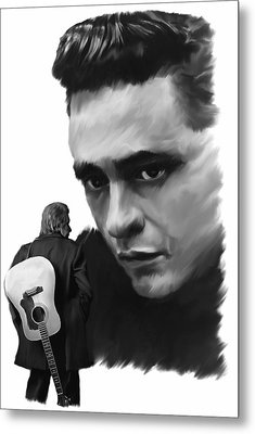 Redemption Jonny Cash Metal Print by Iconic Images Art Gallery David Pucciarelli