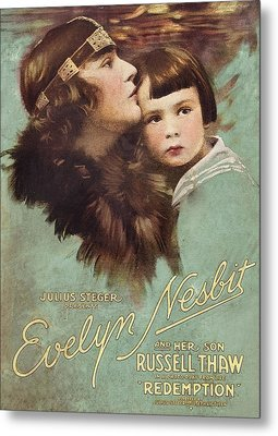 Redemption, L-r Evelyn Nesbit, Russell Metal Print by Everett
