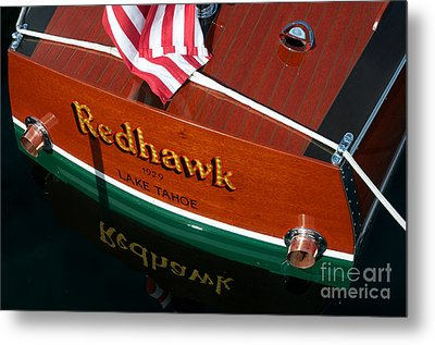 Metal Print featuring the photograph Redhawk by Vinnie Oakes