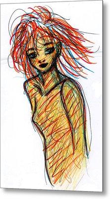 Redhead I Metal Print by Rachel Scott