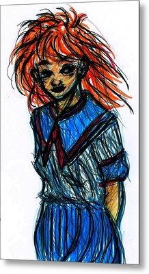 Redhead II Metal Print by Rachel Scott