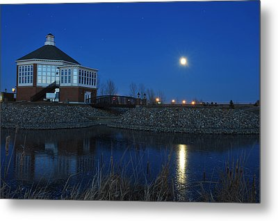 Redlin Art Center In Full Moon Metal Print by Dung Ma