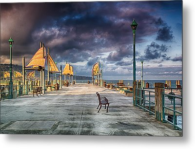 Redondo Pier Metal Print by Joseph Hollingsworth