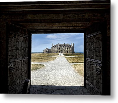Redoubt Gates Metal Print by Peter Chilelli