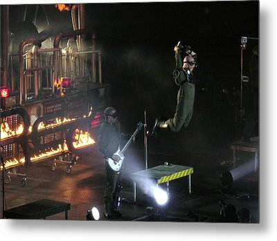 Metal Print featuring the photograph Red's Lead Singer Can Fly by Aaron Martens