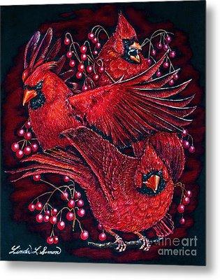 Reds Metal Print by Linda Simon