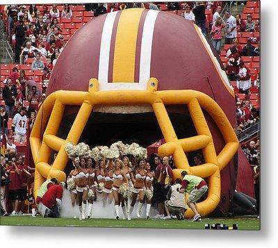 Redskins Cheerleaders Metal Print by Natalie Ortiz
