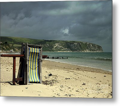 Redundant Deck Chairs Metal Print by Linsey Williams