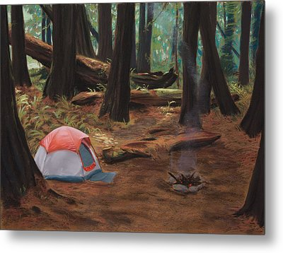 Redwood Campsite Metal Print by Christopher Reid