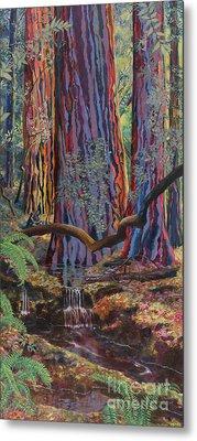 Redwood Picnic Metal Print by Cheryl Myrbo