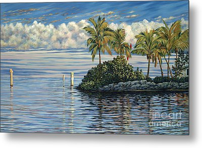 Reef Channel Metal Print by Danielle  Perry