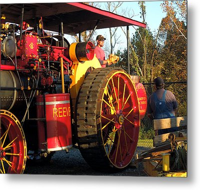 Metal Print featuring the photograph Reeves Steam Tractor by Pete Trenholm