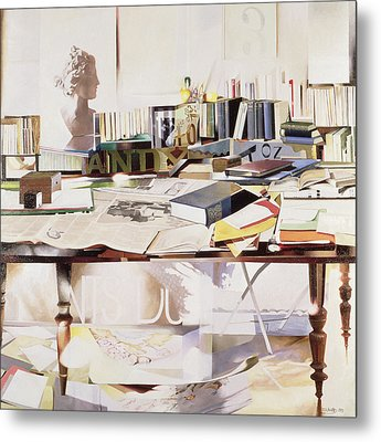 Reference, 1991 Oil On Canvas Metal Print