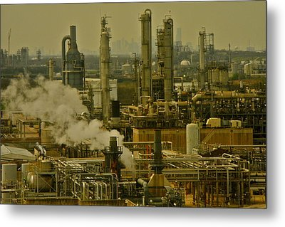 Refineries In Houston Texas Metal Print