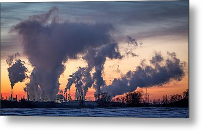 Metal Print featuring the photograph Flint Hills Resources Pine Bend Refinery by Patti Deters