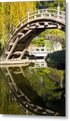 Reflected Bridge Metal Print