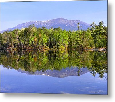 Metal Print featuring the photograph Reflected Katahdin by Gene Cyr