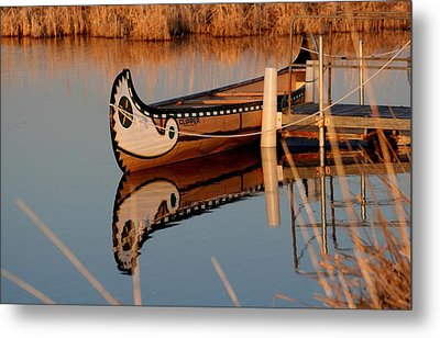 Reflected Metal Print by Larry Trupp