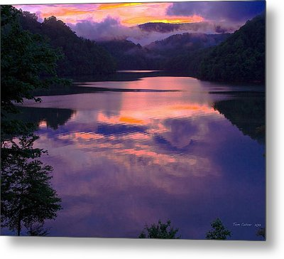 Reflected Sunset Metal Print by Tom Culver