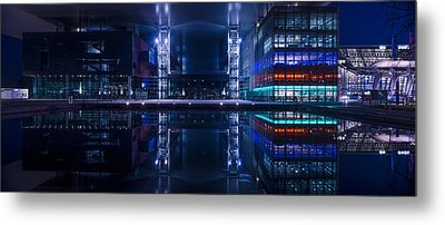 Reflecting Arts And Culture Metal Print by Michael Walker