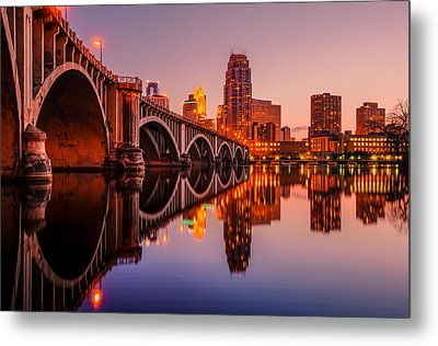 Reflecting Beauty Minneapolis Mn Metal Print