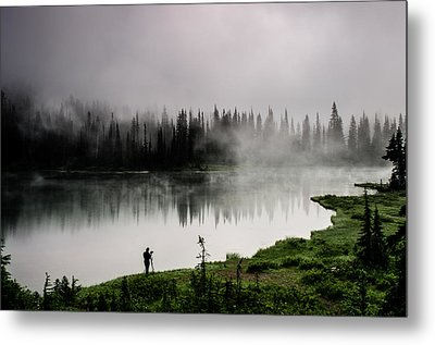 Reflecting On A Moment Metal Print by Brian Xavier