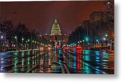 Reflecting On D.c. Metal Print