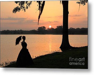 Reflecting Sunrise Belle Metal Print by Leslie Kirk