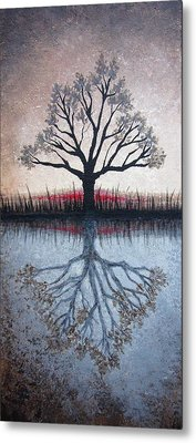 Reflecting Tree Metal Print by Janet King