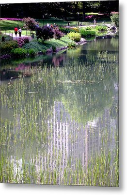 Reflection And Movement Metal Print by Menachem Ganon